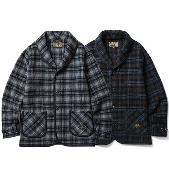 CLUCT <img class='new_mark_img1' src='https://img.shop-pro.jp/img/new/icons35.gif' style='border:none;display:inline;margin:0px;padding:0px;width:auto;' />CHECK SHAWL JACKET