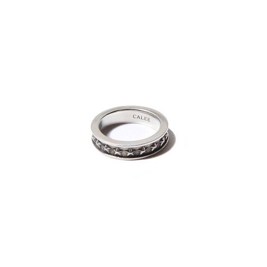 CALEE ACCESSORY STAR RING (SILVER)