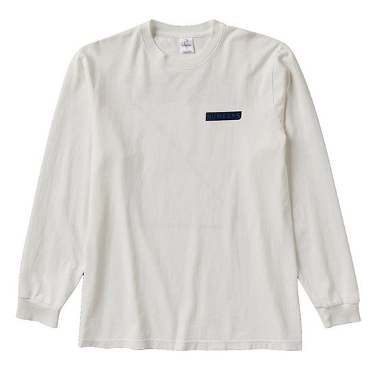 【NUMBERS・ナンバーズ】LOGOTYPE L/S TEE【ロングスリーブTシャツ】