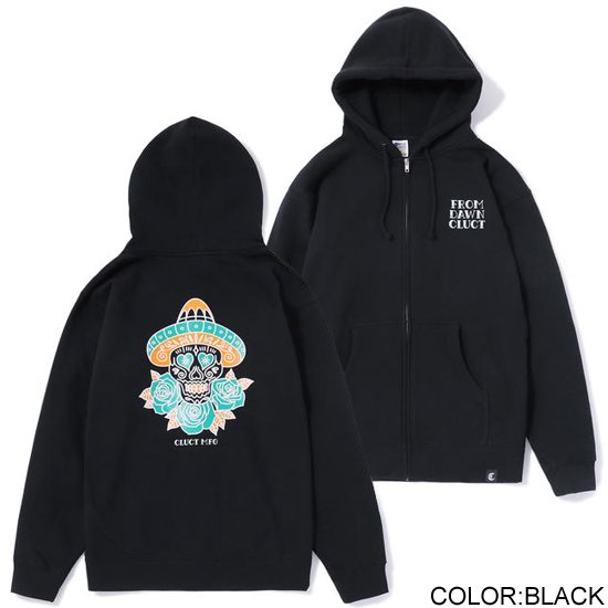 CLUCT ZIP SWEAT THREE ROSES