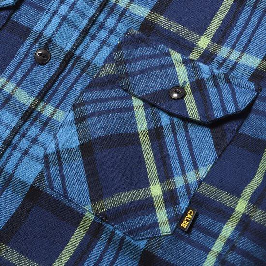 CALEE HEAVY NEL L/S shirt CHECK L/S SHIRT
