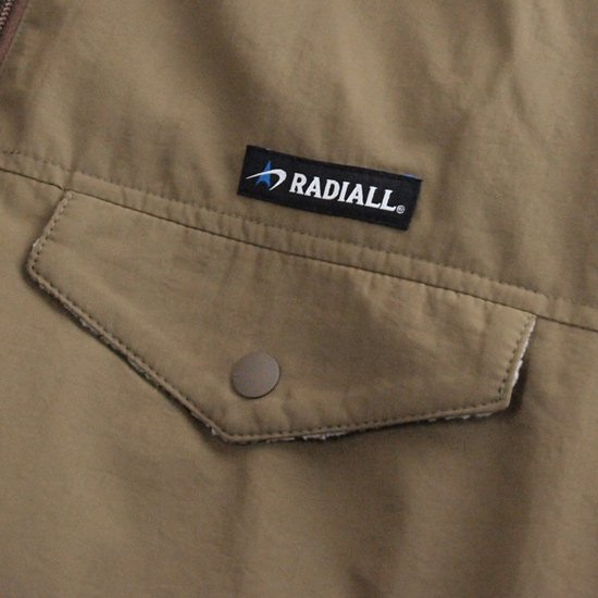 RADIALL RED WOOD - PULLOVER PARKA JACKET