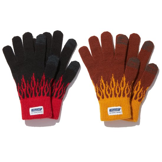 【RADIALL】FLAMES - JACQUARD GLOVES【グローブ・手袋】