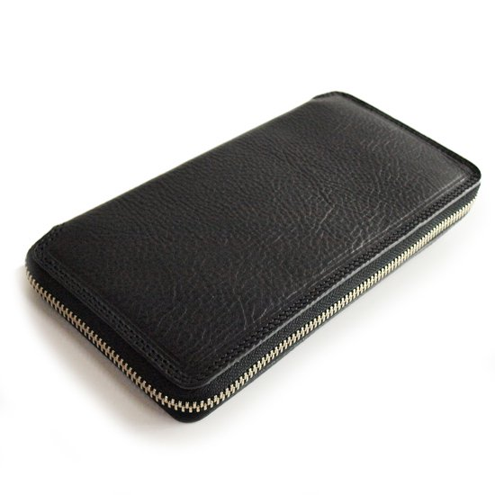 CALEE ACCESSORY LEATHER ROUND ZIP LONG WALLET