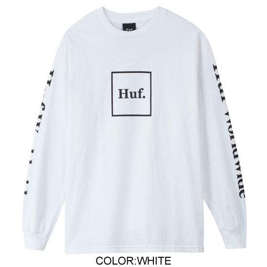 【HUF/ハフ】DOMESTIC L/S TEE WHITE【ロングスリーブTシャツ】