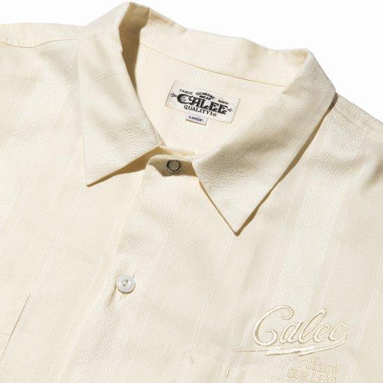 CALEE 【40%off】DOBBY STRIPE L/S SHIRT