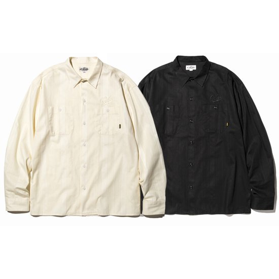 【CALEE】DOBBY STRIPE L/S SHIRT【ストライプシャツ】