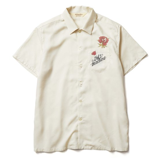 【SOFT MACHINE】OUT BLOOM SHIRTS S/S【レーヨンシャツ】