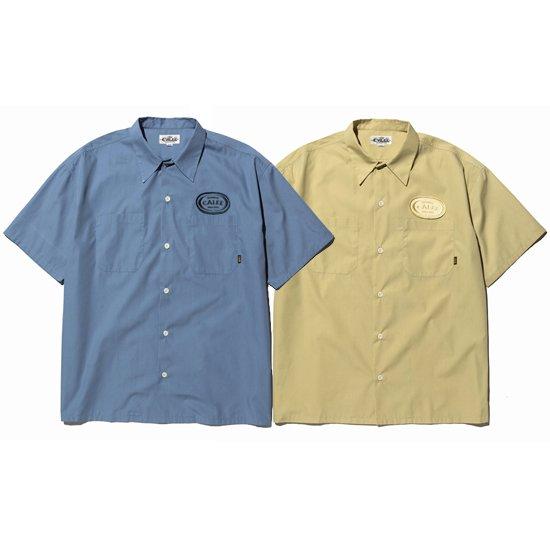 【CALEE】T/C BROAD S/S WORK SHIRT【ワークシャツ】