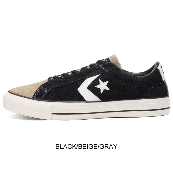 【CONVERSE SKATEBORDING】PRORIDE SK OX + BLACK/BEIGE/GRAY【シューズ・スニーカー・靴】