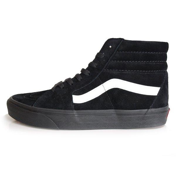 【VANS】SK8-HI  PIG SUEDE [BLACK/BLACK]【シューズ・スニーカー・靴】