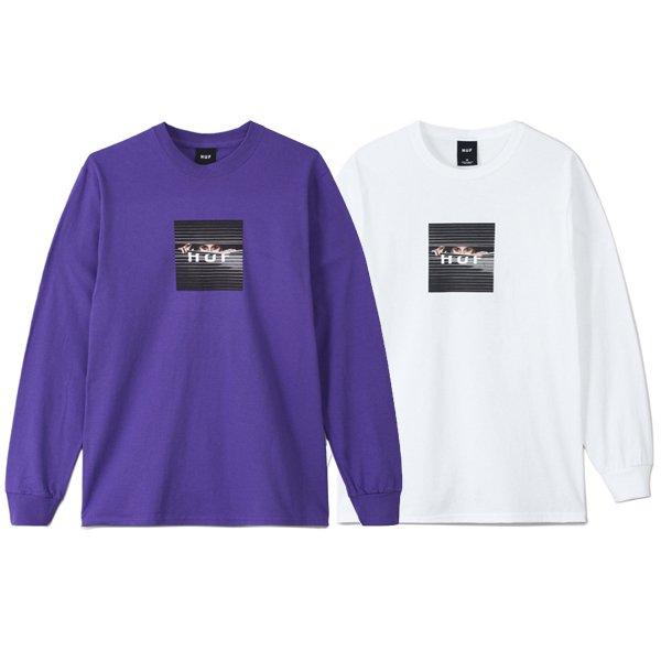 【HUF/ハフ】VOYEUR LOGO L/S TEE【ロングスリーブTシャツ】