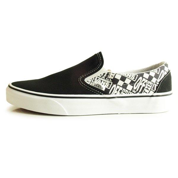 【VANS】 CLASSIC SLIP-ON OFF THE WALL [BLACK/ASPHALT]【シューズ・スニーカー・靴】
