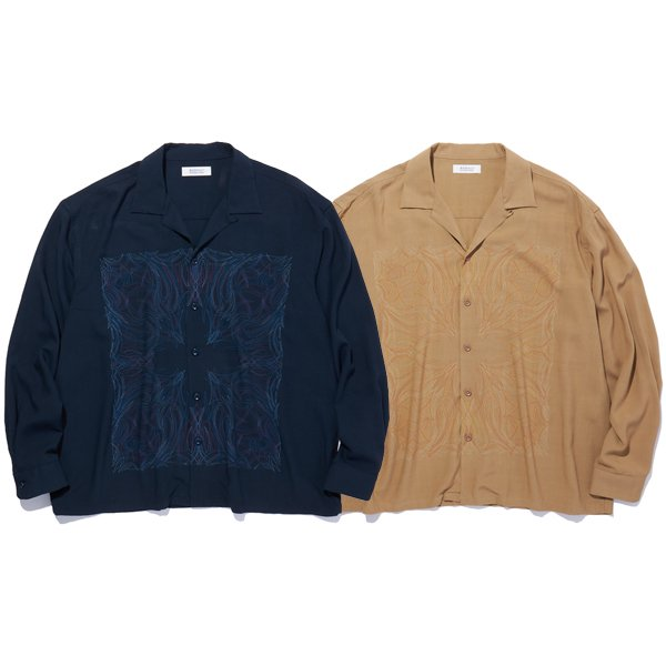 【RADIALL/ラディアル】KUNG-FU ROSE - OPEN COLLARED SHIRT L/S【レーヨンシャツ】