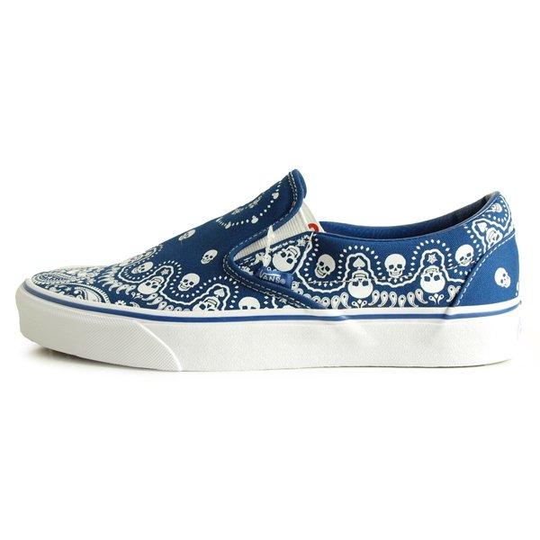 【VANS】CLASSIC SLIP-ON BANDANA [TRUE BLUE/TRUE WHITE]【シューズ・スニーカー・靴】