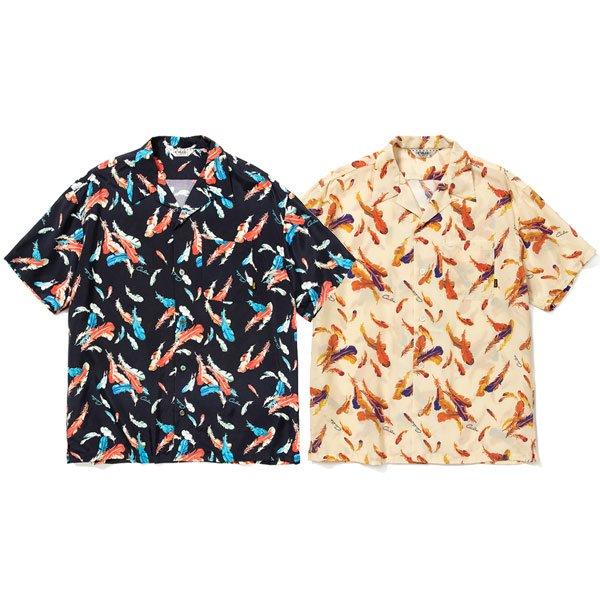 【CALEE】ALLOVER FEATHER PATTERN S/S SHIRT【オープンシャツ】