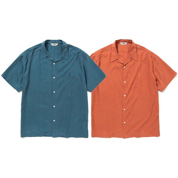 【CALEE】NO POCKET SMOOTH S/S SHIRT【オープンシャツ】