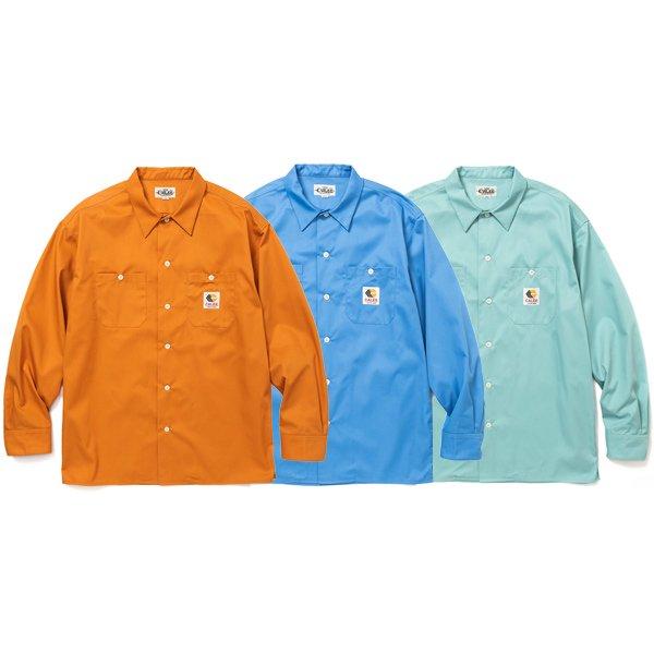【CALEE】T/C TWILL L/S WORK SHIRT【ワークシャツ】