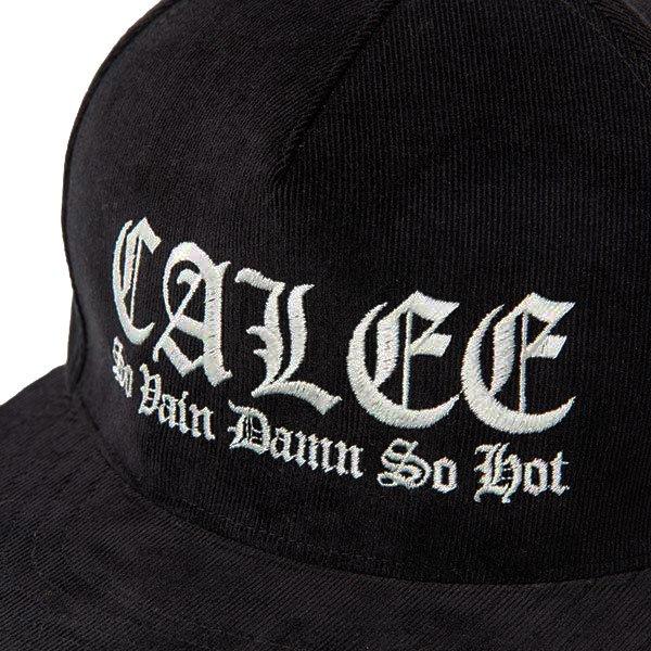 CALEE EMBROIDERY CORDUROY CAP