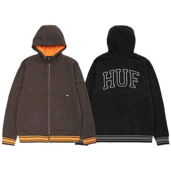 【HUF/ハフ】TRANSIT ZIP-UP HOODIE【ジップフーディー】