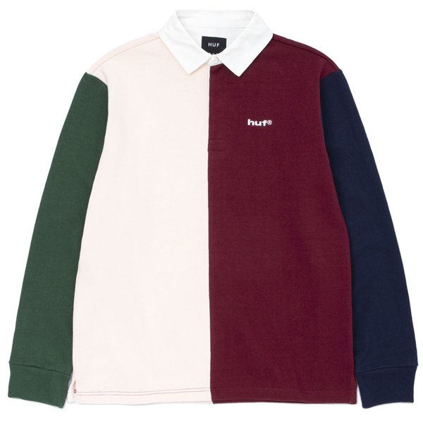 【HUF/ハフ】MICK COLOR BLOCK RUGBY SHIRT【ラガーシャツ】