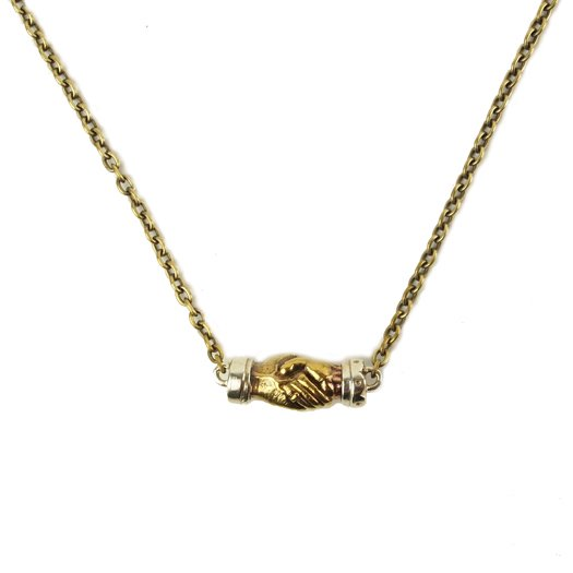 【CLUCT】ANTIQUE HAND SHAKE NECKLACE【ネックレス】