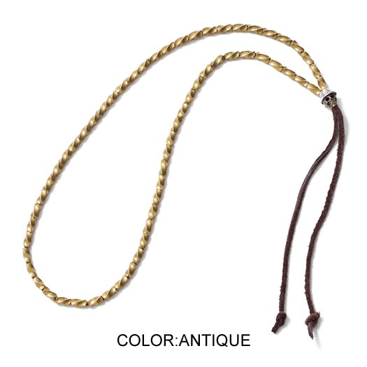 【CLUCT】SKULL BEADS NECKLACE(ANTIQUE)【ネックレス】