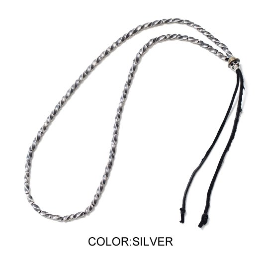 【CLUCT】SKULL BEADS NECKLACE(SILVER)【ネックレス】