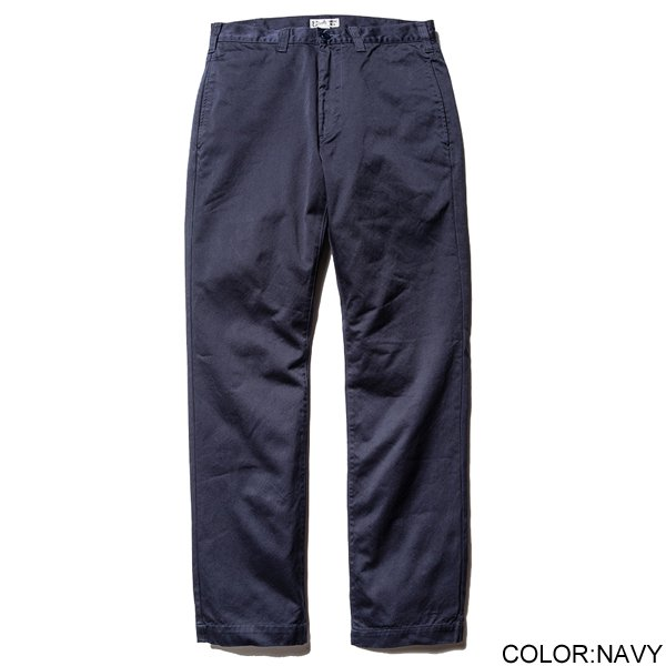 CALEE WASHED WEST POINT SLIM CHINO PANTS