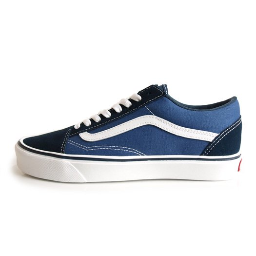 【VANS CLASSIC PLUS】OLD SKOOL LITE + SUEDE/CANVAS NAVY/WHITE【シューズ・スニーカー・靴】