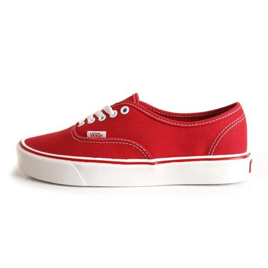 【VANS CLASSIC PLUS】AUTHENTIC LITE + CANVAS RED【シューズ・スニーカー・靴】