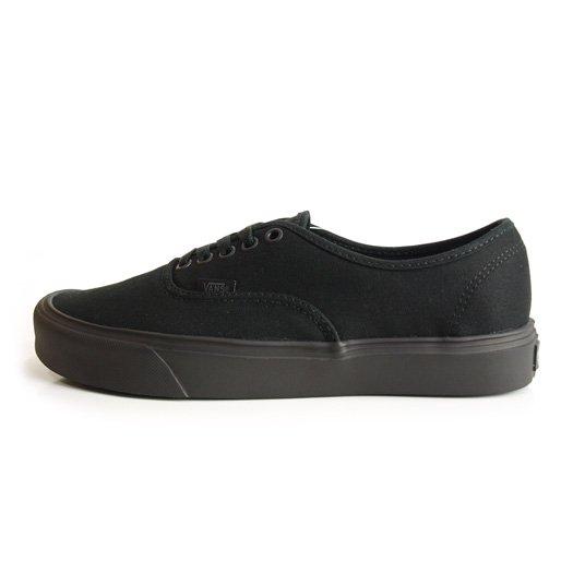 【VANS CLASSIC PLUS】AUTHENTIC LITE + CANVAS BLACK/BLACK【シューズ・スニーカー・靴】