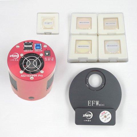 ASI1600MMPro+Miniフィルターホイール+31mmLRGB+Hαナローバンドフィルター キット