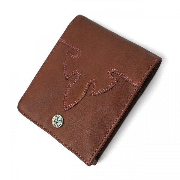 f16990a11d6b クロムハーツ 折りたたみ 財布 1スナップ フレアニー ブラウンレザー ウォレット / CHROME HEARTS Wallet