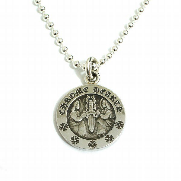 v2 chrome hearts angel v2 chrome hearts angel medal silver pendant mozeypictures Images