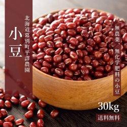 無農薬小豆「えりも小豆」30kg-北海道平譯農園-2019年秋収穫分【送料無料】
