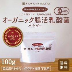 日本の発酵食品からとれた「腸活乳酸菌パウダー」(100g)【送料無料】*メール便での発送*