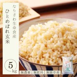 無農薬 無肥料 除草剤不使用 自然栽培 宮城県産 ひとめぼれ 玄米5� 一等米 なりさわ生命食産