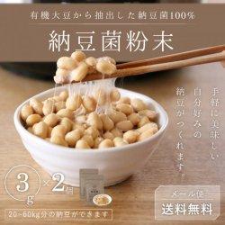 納豆菌粉末3g*2個セット-有機大豆抽出100%【送料無料】*メール便での発送*