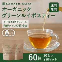 グリーンルイボスティー(非発酵タイプ) 1.8g x 30包 2個セット【送料無料】高品質茶葉100%・オーガニック・ノンカフェイン *メール便での発送*_k3