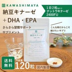 納豆キナーゼ+DHA・EPA さらさら習慣サポートサプリメント 120粒【送料無料】*メール便での発送*_k3