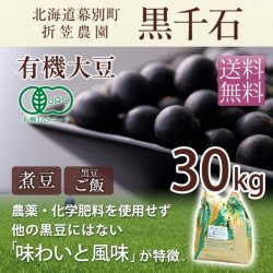 【10%OFF】有機黒豆「黒千石」30kg|折笠農園特製【送料無料】【2019年度産】【外箱潰れの為】<img class='new_mark_img2' src='https://img.shop-pro.jp/img/new/icons61.gif' style='border:none;display:inline;margin:0px;padding:0px;width:auto;' />