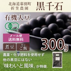 【20%OFF】有機黒豆「黒千石」300g|折笠農園特製【送料無料】*メール便での発送*【有機JASシール剥がれの為】<img class='new_mark_img2' src='https://img.shop-pro.jp/img/new/icons22.gif' style='border:none;display:inline;margin:0px;padding:0px;width:auto;' />