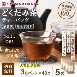 無農薬 無施肥 どくだみ茶 ティーバッグ 3g×40包×5袋セット 兵庫県産|煮出して家族で  【送料無料】_k3