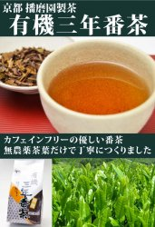有機三年番茶(京都府・奈良県・三重県産)400g
