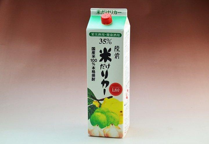 米だけリカー35度(果実酒用本格焼酎)1800ml-酔仙酒造-