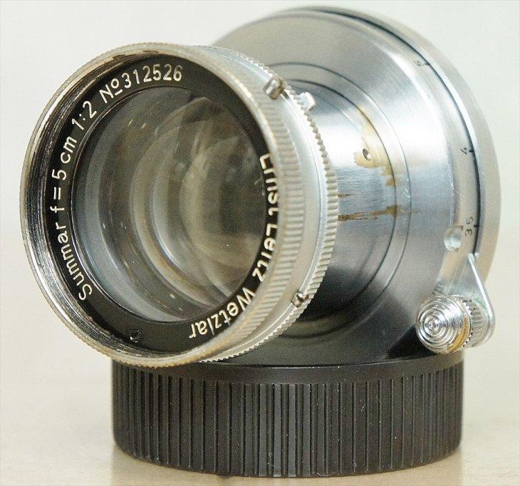キレイな光学系! 標準レンズSummar(ズマール)50mmF2 整備済み