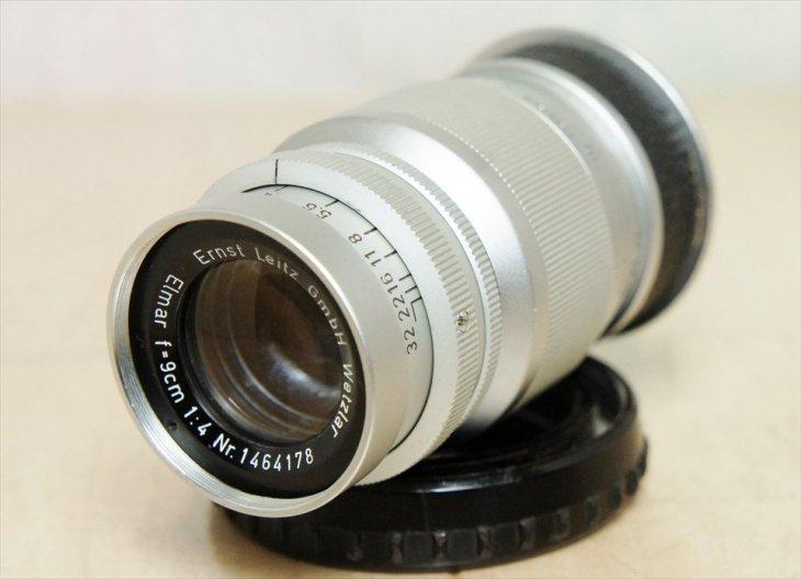純正ケース付!!Leitz中望遠レンズElmar(エルマー)90mmF4 安心の整備済み