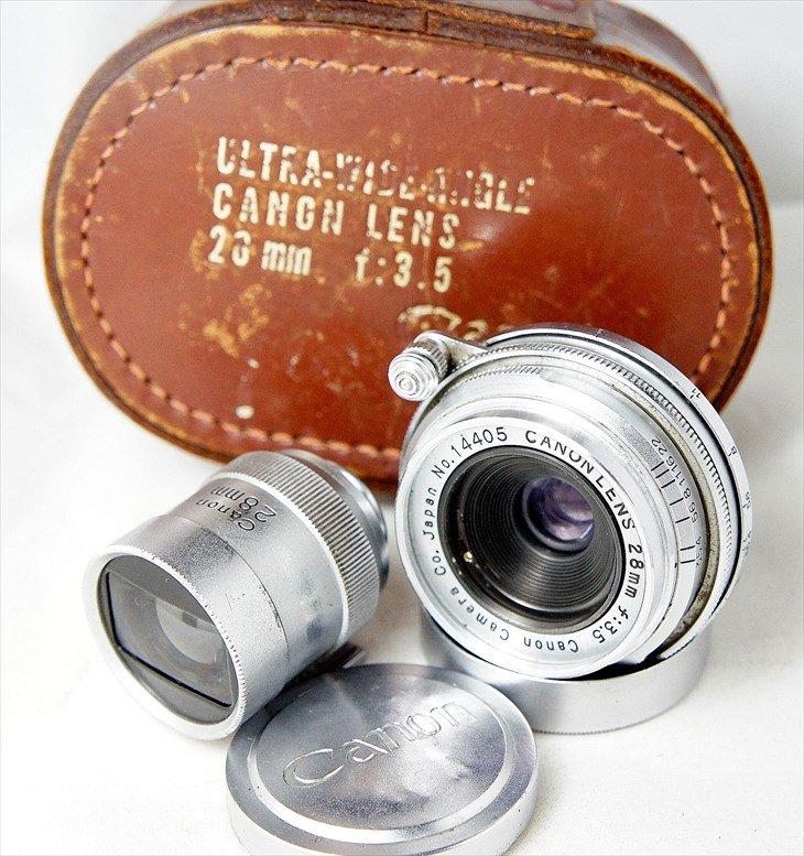 Canonのスクリューマウント広角レンズ CANON LENSE28mmF3.5 分解清掃済み