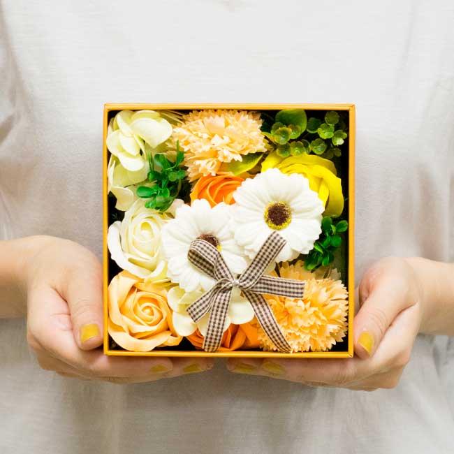 【お花の入浴剤バスフレグランスソープ】Arrange-PINK BOX-